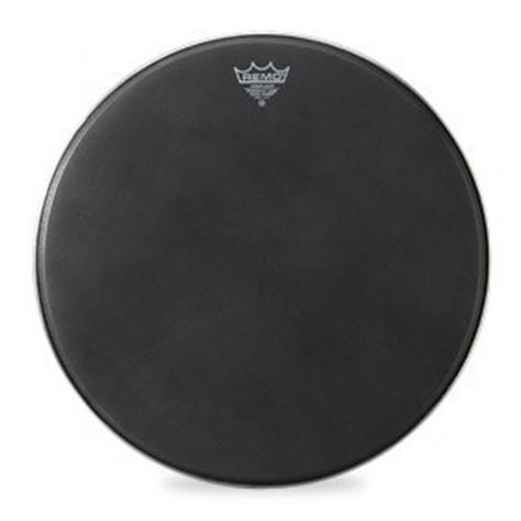 remo powermax bass drum head crimplock black suede 16 inch drums on sale. Black Bedroom Furniture Sets. Home Design Ideas