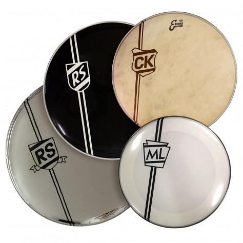 Bass Drum Shield Logos