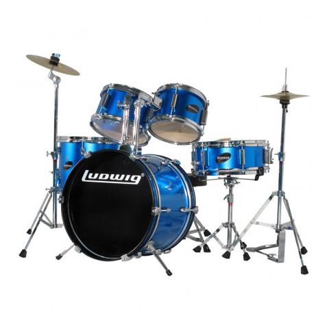 ludwig jr complete 5pc kids drum set drum set for kids drums on sale. Black Bedroom Furniture Sets. Home Design Ideas