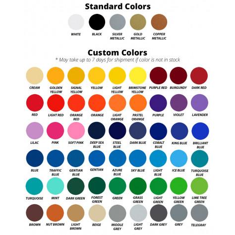 Standard & Custom color options