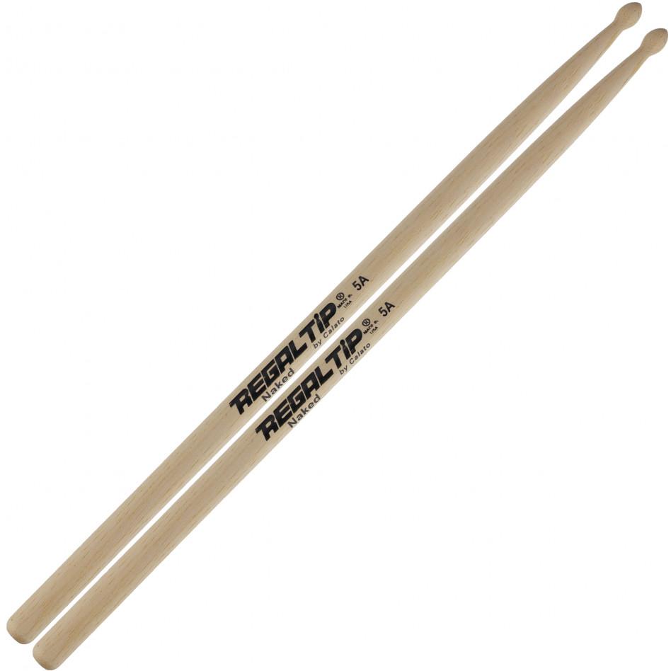Regal Tip 5A Naked Series Drum Sticks Drums on SALE